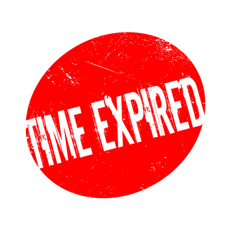 Time Expired rubber stamp. Grunge design with dust scratches. Effects can be easily removed for a clean, crisp look. Color is easily changed. Illustration