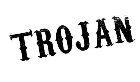 removed: Trojan rubber stamp. Grunge design with dust scratches. Effects can be easily removed for a clean, crisp look. Color is easily changed. Illustration