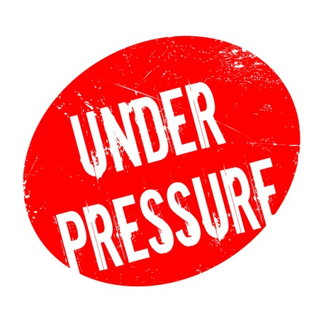 pressurized: Under Pressure rubber stamp. Grunge design with dust scratches. Effects can be easily removed for a clean, crisp look. Color is easily changed. Illustration
