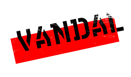 rioting: Vandal rubber stamp. Grunge design with dust scratches. Effects can be easily removed for a clean, crisp look. Color is easily changed.