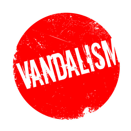 vandal: Vandalism rubber stamp. Grunge design with dust scratches. Effects can be easily removed for a clean, crisp look. Color is easily changed.