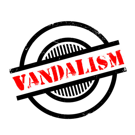 rioting: Vandalism rubber stamp. Grunge design with dust scratches. Effects can be easily removed for a clean, crisp look. Color is easily changed.
