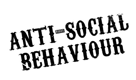 tagged: Anti-Social Behaviour rubber stamp. Grunge design with dust scratches. Effects can be easily removed for a clean, crisp look. Color is easily changed.