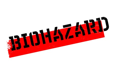 biohazard: Biohazard rubber stamp. Grunge design with dust scratches. Effects can be easily removed for a clean, crisp look. Color is easily changed.
