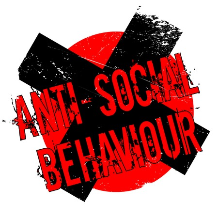 civil rights: Anti-Social Behaviour rubber stamp. Grunge design with dust scratches. Effects can be easily removed for a clean, crisp look. Color is easily changed.