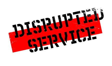 Disrupted Service rubber stamp. Grunge design with dust scratches. Effects can be easily removed for a clean, crisp look. Color is easily changed. Stock Photo
