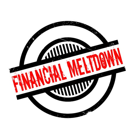 meltdown: Financial Meltdown rubber stamp. Grunge design with dust scratches. Effects can be easily removed for a clean, crisp look. Color is easily changed.