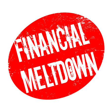 budgetary: Financial Meltdown rubber stamp. Grunge design with dust scratches. Effects can be easily removed for a clean, crisp look. Color is easily changed.