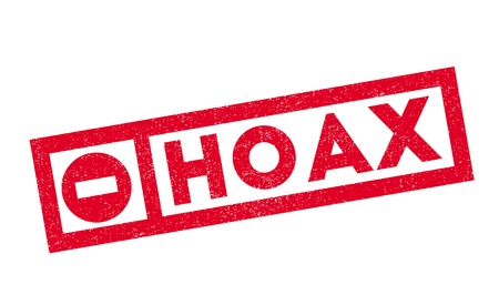 hoax: Hoax rubber stamp. Grunge design with dust scratches. Effects can be easily removed for a clean, crisp look. Color is easily changed. Illustration