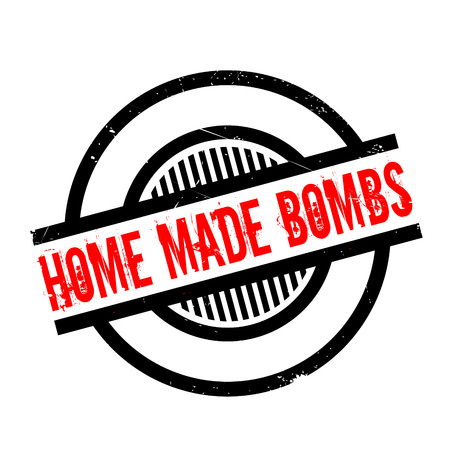 guerrilla: Home Made Bombs rubber stamp. Grunge design with dust scratches. Effects can be easily removed for a clean, crisp look. Color is easily changed. Illustration