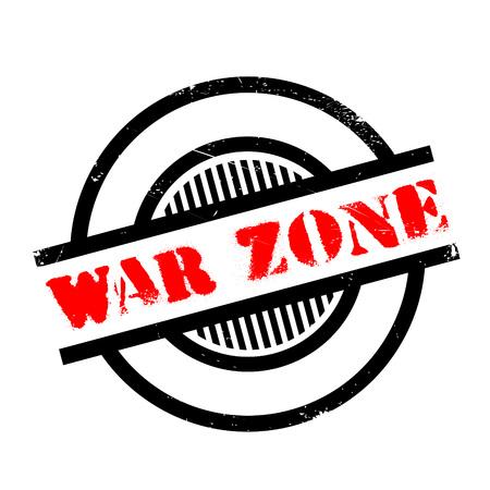 Zona de guerra del sello de goma. Diseño de Grunge con los rasguños polvo. Los efectos se pueden quitar fácilmente para una apariencia limpia y nítida. En color se cambia fácilmente.