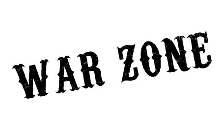War Zone rubber stamp. Grunge design with dust scratches. Effects can be easily removed for a clean, crisp look. Color is easily changed. Illustration