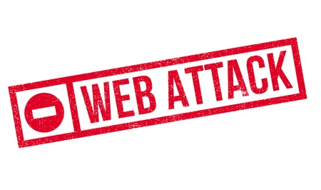 removed: Web Attack rubber stamp. Grunge design with dust scratches. Effects can be easily removed for a clean, crisp look. Color is easily changed.