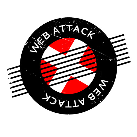 violation: Web Attack rubber stamp. Grunge design with dust scratches. Effects can be easily removed for a clean, crisp look. Color is easily changed.
