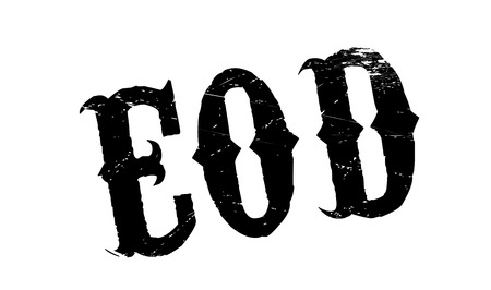 solider: EOD rubber stamp. Grunge design with dust scratches. Effects can be easily removed for a clean, crisp look. Color is easily changed.