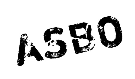 asbo: ASBO Anti-Social Behavior Order rubber stamp. Grunge design with dust scratches. Effects can be easily removed for a clean, crisp look. Color is easily changed.