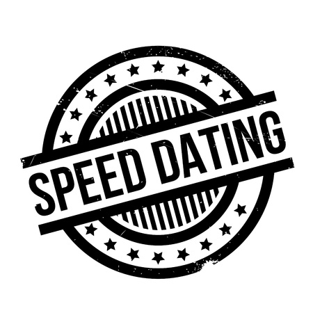 speed dating: Speed Dating rubber stamp. Grunge design with dust scratches. Effects can be easily removed for a clean, crisp look. Color is easily changed.