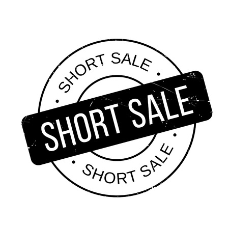 detachment: Short Sale rubber stamp. Grunge design with dust scratches. Effects can be easily removed for a clean, crisp look. Color is easily changed.
