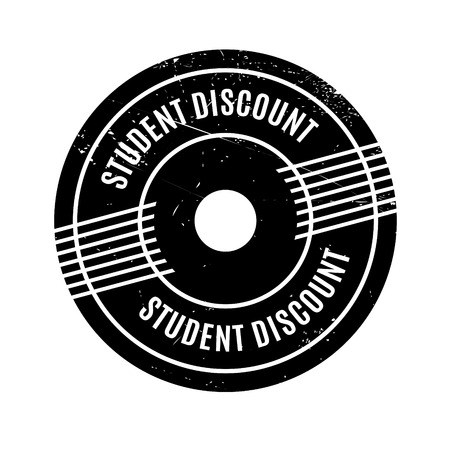 deduction: Student Discount rubber stamp. Grunge design with dust scratches. Effects can be easily removed for a clean, crisp look. Color is easily changed. Illustration