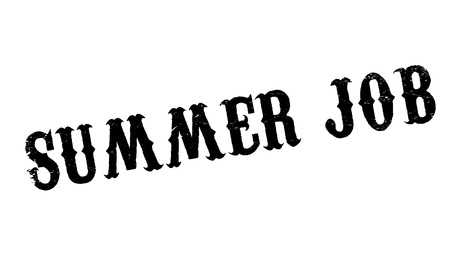 summer solstice: Summer Job rubber stamp. Grunge design with dust scratches. Effects can be easily removed for a clean, crisp look. Color is easily changed.