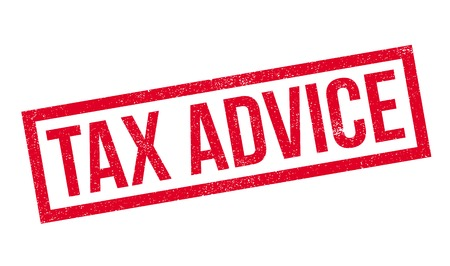 Tax Advice rubber stamp. Grunge design with dust scratches. Effects can be easily removed for a clean, crisp look. Color is easily changed. Illustration