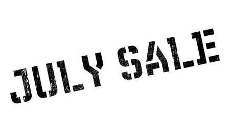 consuming: July Sale rubber stamp. Grunge design with dust scratches. Effects can be easily removed for a clean, crisp look. Color is easily changed.