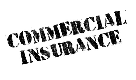 ensuring: Commercial Insurance rubber stamp. Grunge design with dust scratches. Effects can be easily removed for a clean, crisp look. Color is easily changed.