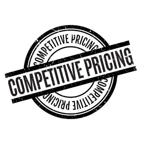 competitor: Competitive Pricing rubber stamp. Grunge design with dust scratches. Effects can be easily removed for a clean, crisp look. Color is easily changed. Stock Photo
