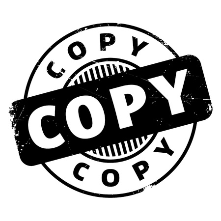 facsimile: Copy rubber stamp. Grunge design with dust scratches. Effects can be easily removed for a clean, crisp look. Color is easily changed.