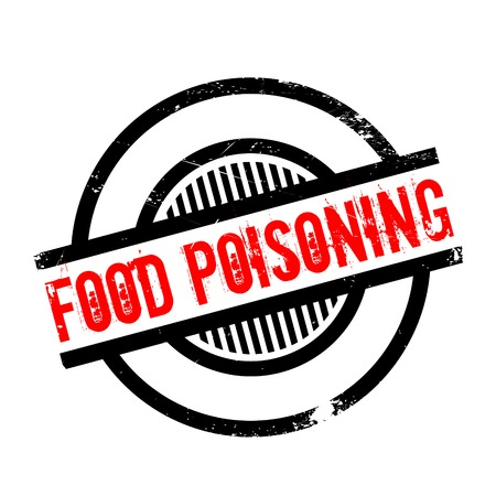 poisoning: Food Poisoning rubber stamp. Grunge design with dust scratches. Effects can be easily removed for a clean, crisp look. Color is easily changed.