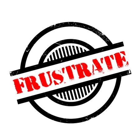 frustrate: Frustrate rubber stamp. Grunge design with dust scratches. Effects can be easily removed for a clean, crisp look. Color is easily changed. Illustration
