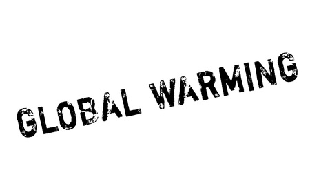Global Warming rubber stamp. Grunge design with dust scratches. Effects can be easily removed for a clean, crisp look. Color is easily changed.