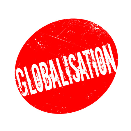 Globalisation rubber stamp. Grunge design with dust scratches. Effects can be easily removed for a clean, crisp look. Color is easily changed. Stock Photo