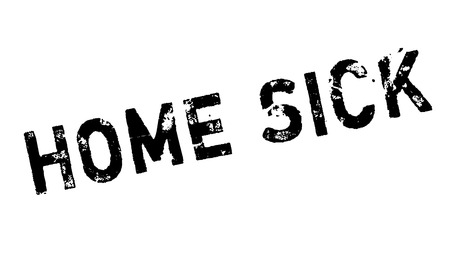 hankering: Home Sick rubber stamp. Grunge design with dust scratches. Effects can be easily removed for a clean, crisp look. Color is easily changed.