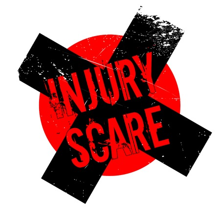 suffer: Injury Scare rubber stamp. Grunge design with dust scratches. Effects can be easily removed for a clean, crisp look. Color is easily changed. Illustration