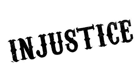 transgression: Injustice rubber stamp. Grunge design with dust scratches. Effects can be easily removed for a clean, crisp look. Color is easily changed.