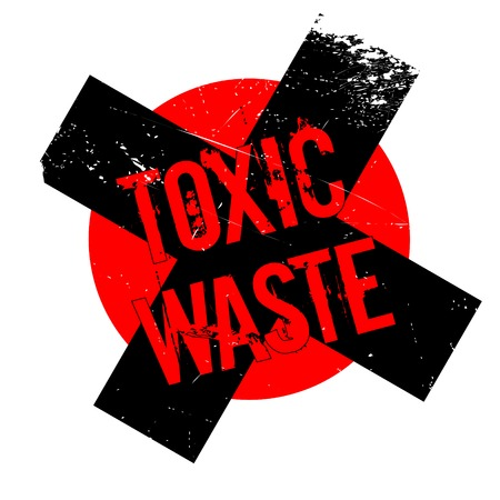 desechos toxicos: Toxic Waste rubber stamp. Grunge design with dust scratches. Effects can be easily removed for a clean, crisp look. Color is easily changed.