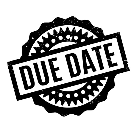 payable: Due Date rubber stamp. Grunge design with dust scratches. Effects can be easily removed for a clean, crisp look. Color is easily changed.