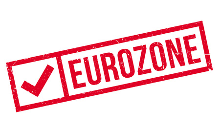 euro area: Eurozone rubber stamp. Grunge design with dust scratches. Effects can be easily removed for a clean, crisp look. Color is easily changed.