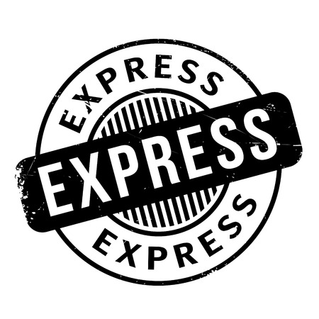 quickly: Express rubber stamp. Grunge design with dust scratches. Effects can be easily removed for a clean, crisp look. Color is easily changed.