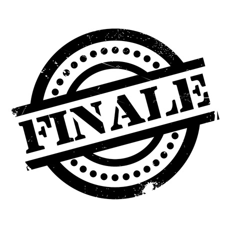 Finale rubber stamp. Grunge design with dust scratches. Effects can be easily removed for a clean, crisp look. Color is easily changed. Illustration