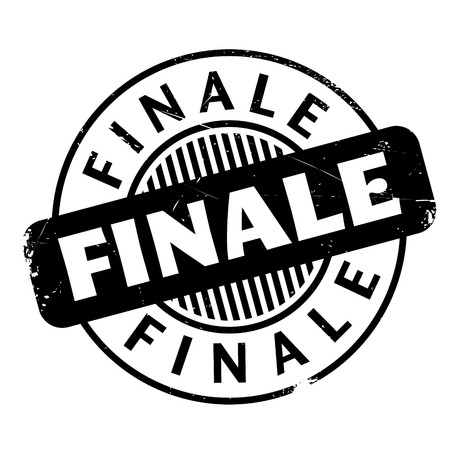 finale: Finale rubber stamp. Grunge design with dust scratches. Effects can be easily removed for a clean, crisp look. Color is easily changed. Illustration