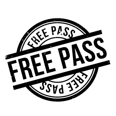 Free Pass rubber stamp. Grunge design with dust scratches. Effects can be easily removed for a clean, crisp look. Color is easily changed.