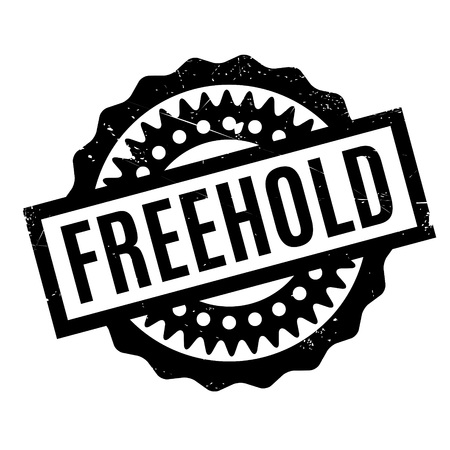 own: Freehold rubber stamp. Grunge design with dust scratches. Effects can be easily removed for a clean, crisp look. Color is easily changed. Illustration