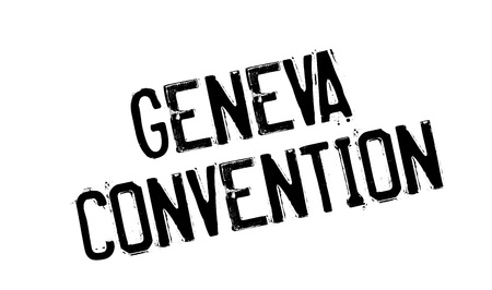 convention: Geneva Convention rubber stamp. Grunge design with dust scratches. Effects can be easily removed for a clean, crisp look. Color is easily changed. Illustration