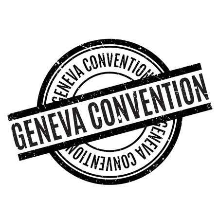 world war two: Geneva Convention rubber stamp. Grunge design with dust scratches. Effects can be easily removed for a clean, crisp look. Color is easily changed. Illustration