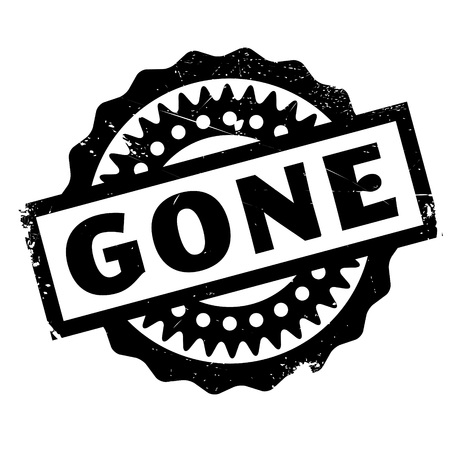 gone: Gone rubber stamp. Grunge design with dust scratches. Effects can be easily removed for a clean, crisp look. Color is easily changed.