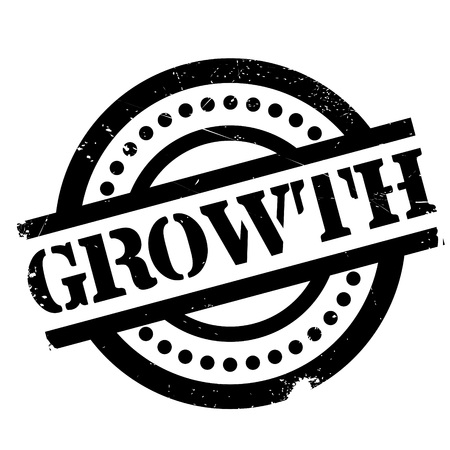 Growth rubber stamp. Grunge design with dust scratches. Effects can be easily removed for a clean, crisp look. Color is easily changed.