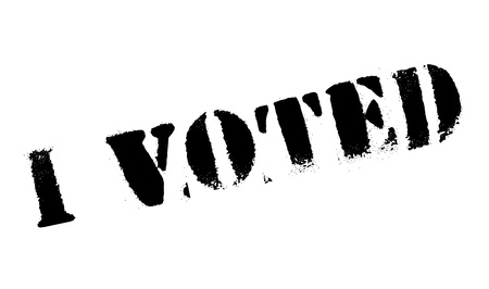voted: I Voted rubber stamp. Grunge design with dust scratches. Effects can be easily removed for a clean, crisp look. Color is easily changed. Illustration