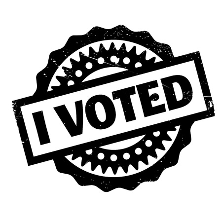 I Voted rubber stamp. Grunge design with dust scratches. Effects can be easily removed for a clean, crisp look. Color is easily changed. Illustration